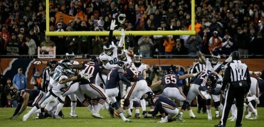Cody Parkey's Double-Doink Was Tipped