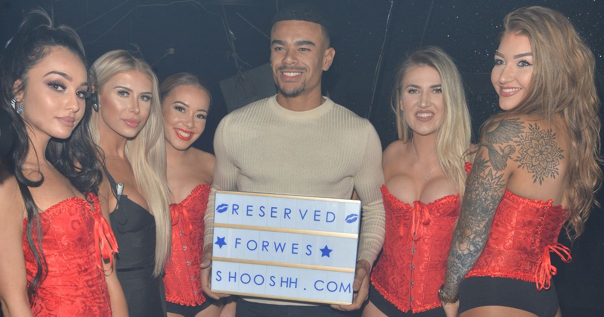 Wes Nelson parties with bevy of lingerie-clad beauties after Megan split