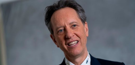 Richard E Grant can't believe his luck as he attends the Oscars Nominees' Lunch
