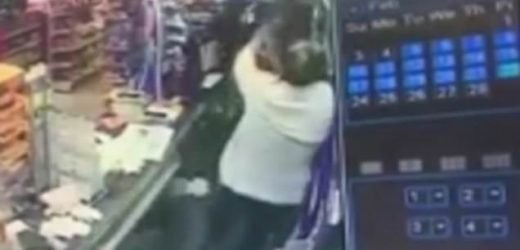 Shop assistant smacked TWELVE times with  baseball bat in robbery