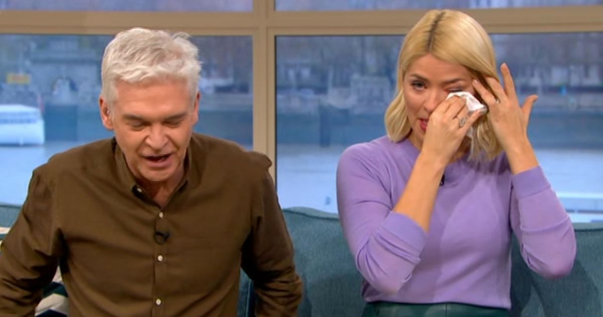 Holly Willoughby in tears over blind football fan, 10, who lost 96% of his skin