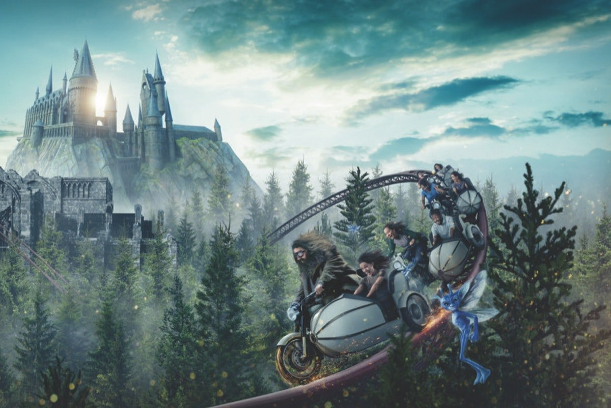 The Wizarding World Of Harry Potter's Hagrid Motorbike Ride Is A New Enchanting Coaster