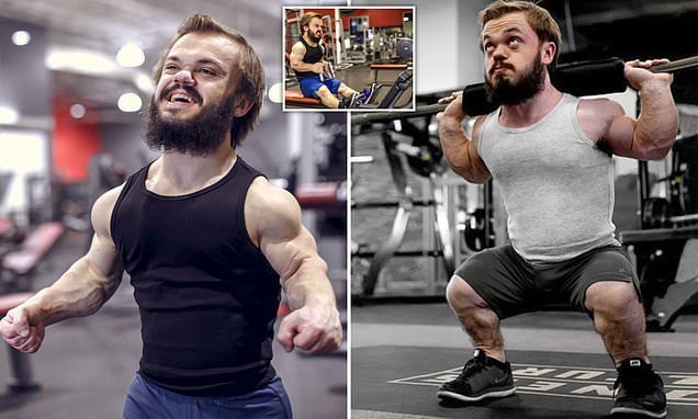 Bodybuilder dwarf trains intensively and bulks up for 1st competition