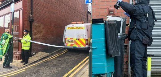 Bomb squad is called in to investigate a suspicious package
