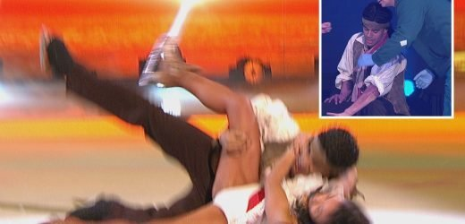 Dancing On Ice's Wes Nelson suffers nightmare fall that forces him to change tonight's routine