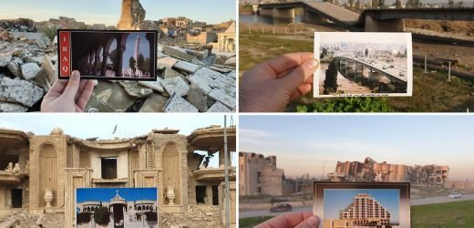 Heartbreaking then-and-now photos of Mosul reveal how ISIS vandals left ancient city in ruins