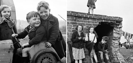 Cheeky kids play happily in powerful pics of 1950s Britain (and there's not an iPad in sight)