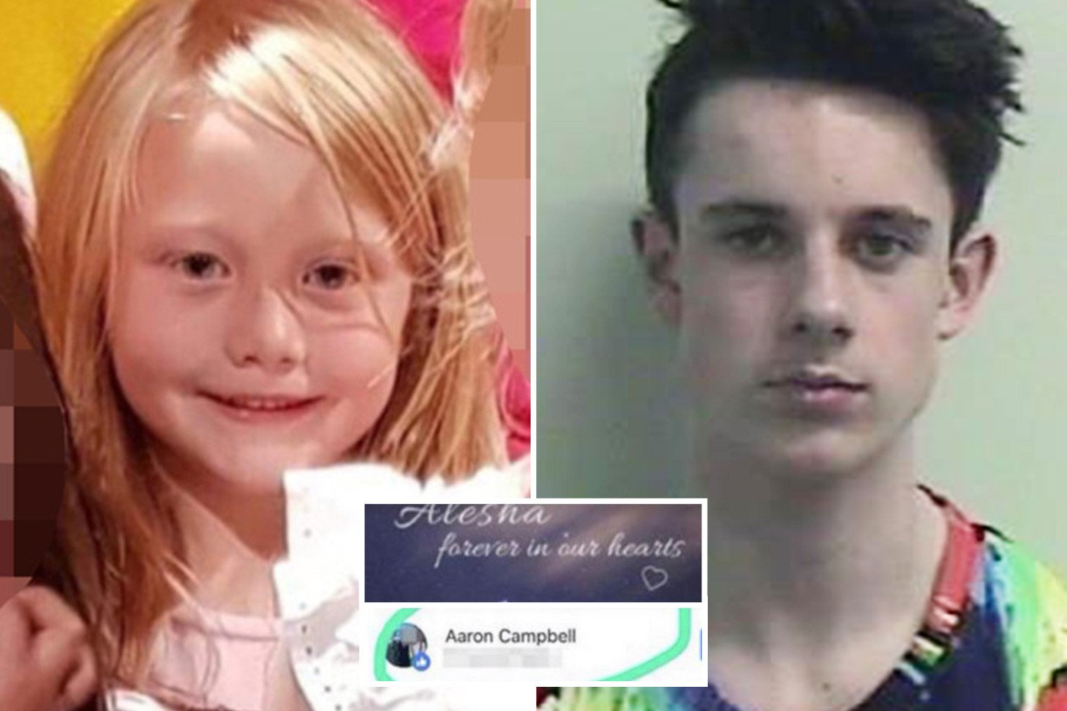 Alesha MacPhail's twisted killer Aaron Campbell's 'liked' a Facebook tribute to the tragic six-year-old after murdering her – as his YouTube is deleted