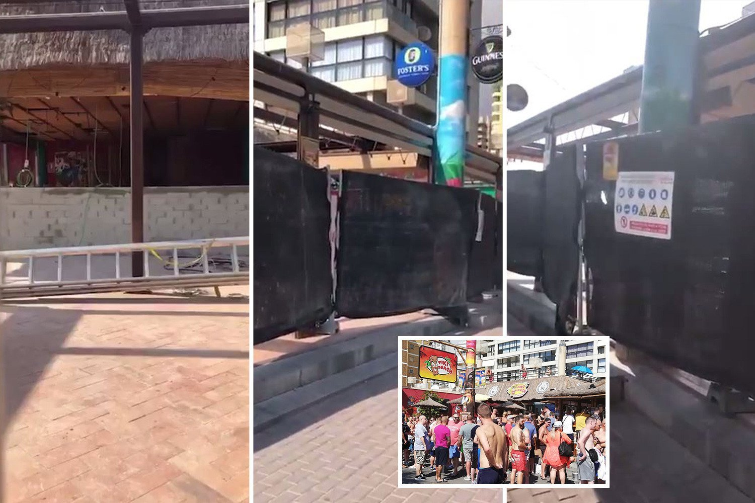 Brit tourists shocked to see Benidorm's famous Tiki Beach bar reduced to a building site after court battle forced it to close