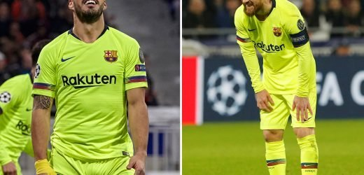Messi matches shot failure record and Suarez reaches 24 hours without an away Champions League goal as Barcelona huff and puff against Lyon