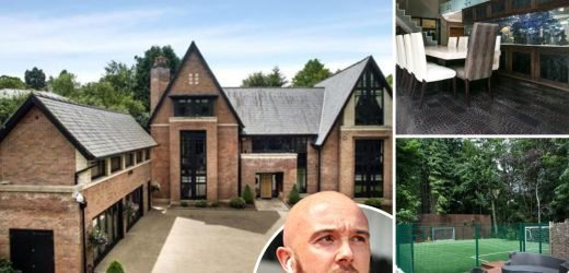 Prem star Ireland sells Come Dine With Me mansion for £3.75m including 5-a-side football pitch and £100,000 fish tank