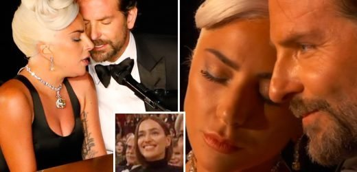Oscars 2019: Lady Gaga and Bradley Cooper 'almost kiss' in very steamy Shallow duet after actor's partner Irina Shayk branded 'jealous' by viewers