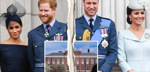 Royal family in turmoil as Prince Harry and William split households amid fallout from Meghan Markle family row