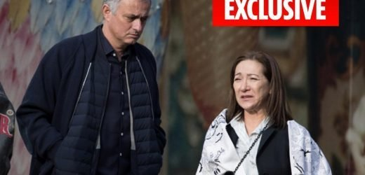 Jose Mourinho seen on rare outing with wife Matilde after his secret friendship with blonde was revealed