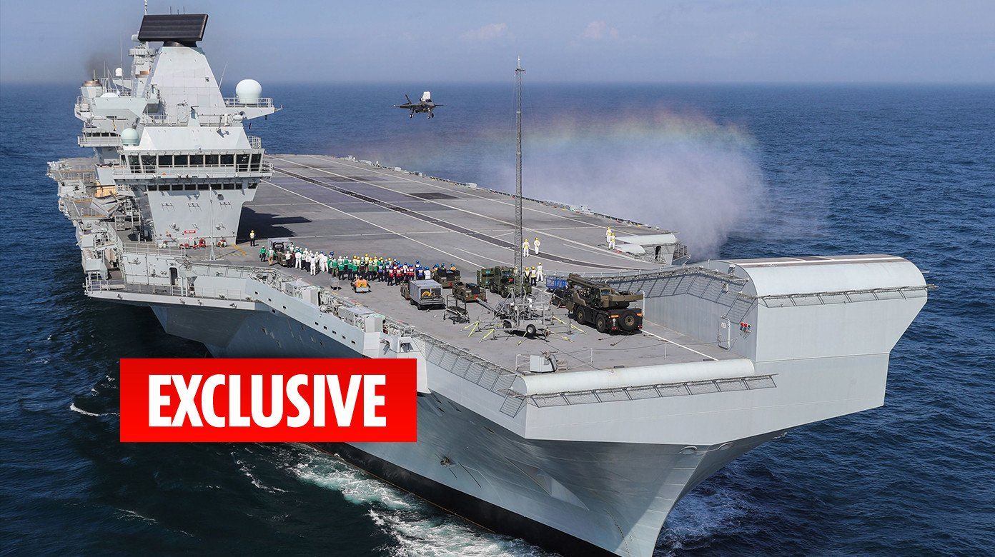 Britain's new £3bn aircraft carrier HMS Queen Elizabeth is short of crew, commanders fear