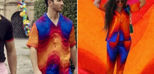 Kevin Jonas and Beyoncé are suckers for this psychedelic shirt