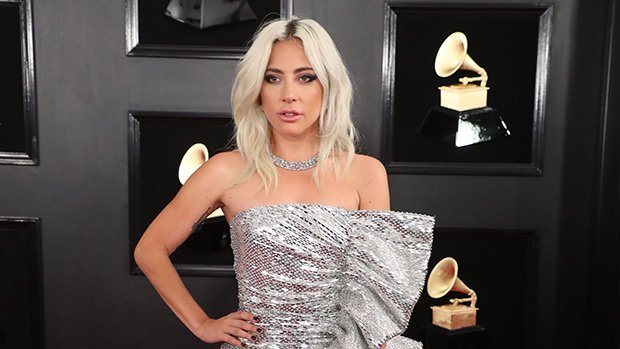 Lady Gaga Stuns In A Sparkling Silver Dress With Thigh High Slit At Grammy Awards