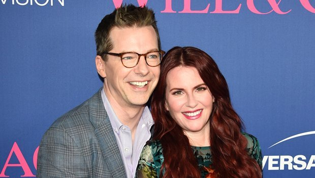 Megan Mullally & Sean Hayes Get Naked To Recreate John Lennon & Yoko Ono's 'Rolling Stone' Cover