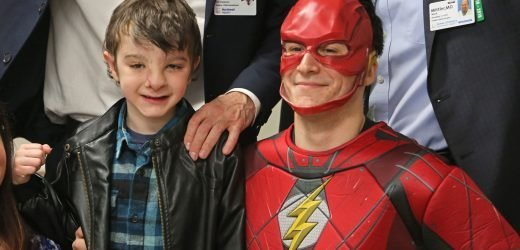 Doctors reveal boy's new face with help from The Flash