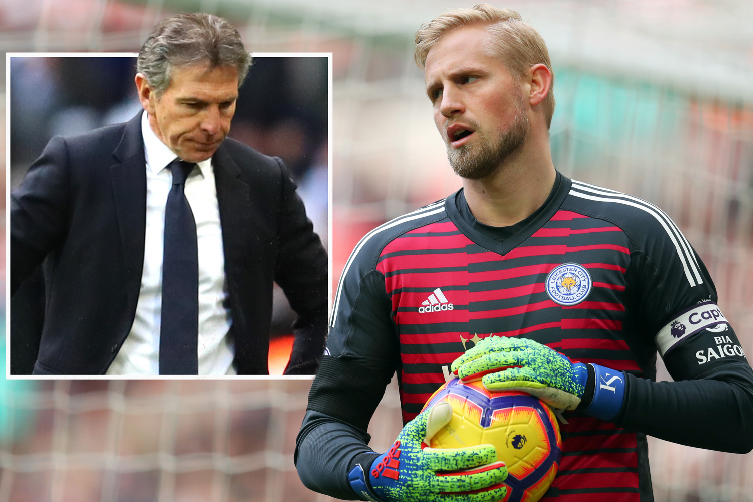 Kasper Schmeichel could quit Leicester because he is not happy under Puel – claims dad Peter