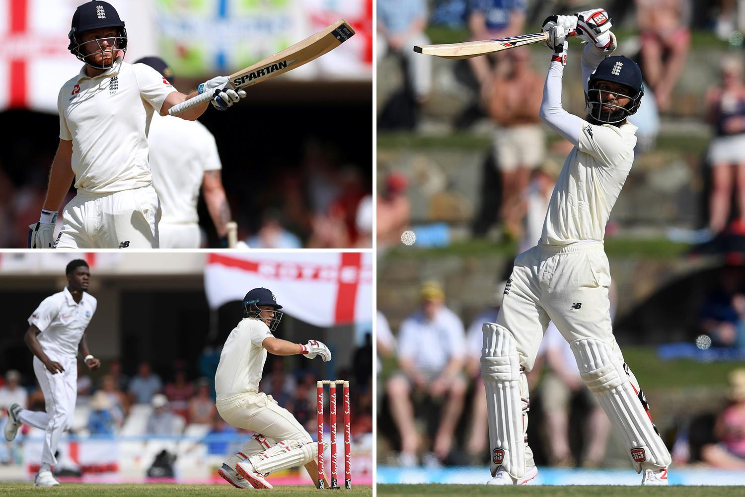 Moeen Ali and Jonny Bairstow rescue England after top order collapses again in West Indies