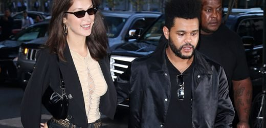 The Weeknd & Bella Hadid Are A Clone Couple In Sexy Camo As He Debuts Hair Makeover