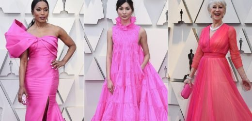 Pink dresses ruled the 2019 Oscars red carpet