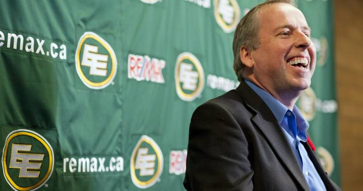 Edmonton Eskimos president and CEO Len Rhodes not seeking another term