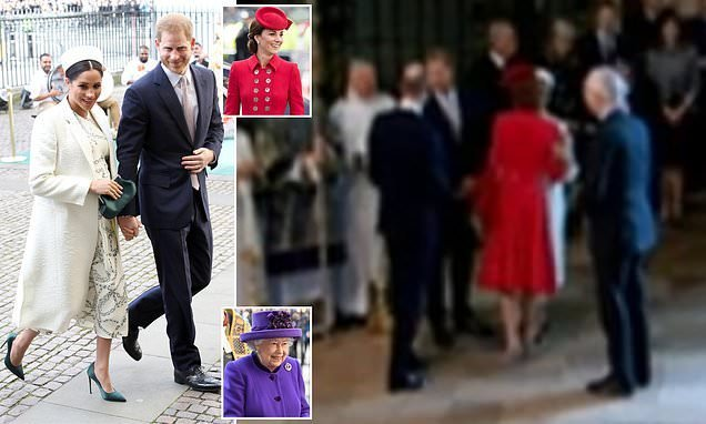 Kate and Meghan join the Queen for Commonwealth Day service