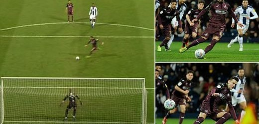 The worst penalty ever? Celina kicks ball just TWO yards after slip