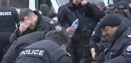 Police accidentally pepper spray their OWN officers