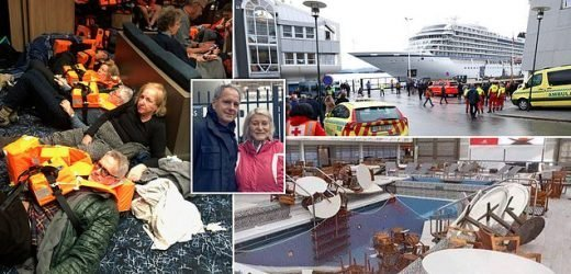 Britons' terror after cruise liner engulfed by storm in Norwegian Sea