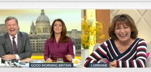 Piers Morgan stops Good Morning Britain to flirt outrageously with Lorraine