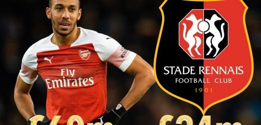 Aubameyang cost double ENTIRE Rennes team but Arsenal must still be ruthless or risk being guest of honour at party in France