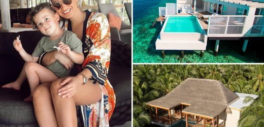 Sam Faiers extends exotic holiday after sister Billie's 'yobbish' wedding as she take family to another Maldives island
