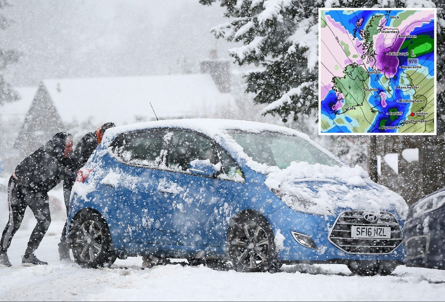 UK weather forecast: SEVERE Met Office warning as Storm Hannah SNOW set to bury Britain