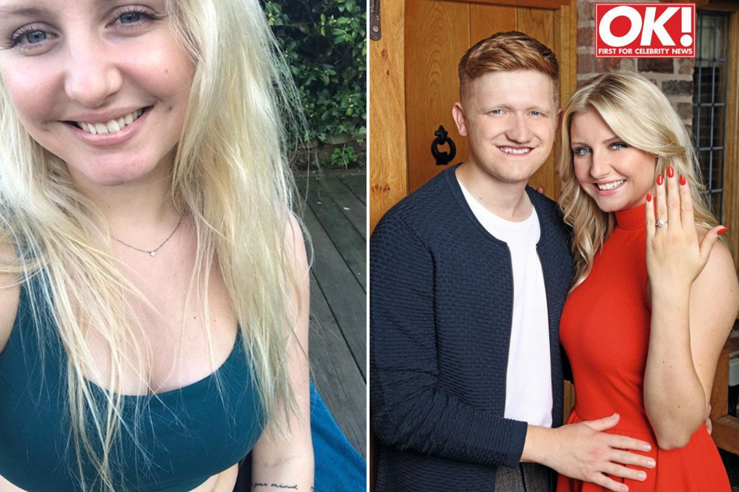 Coronation Street star Sam Aston's fiance Briony Gardner hits back at trolls who called her 'stuck up' in refreshingly honest post about her 'crooked teeth' and 'dodgy eyebrows'