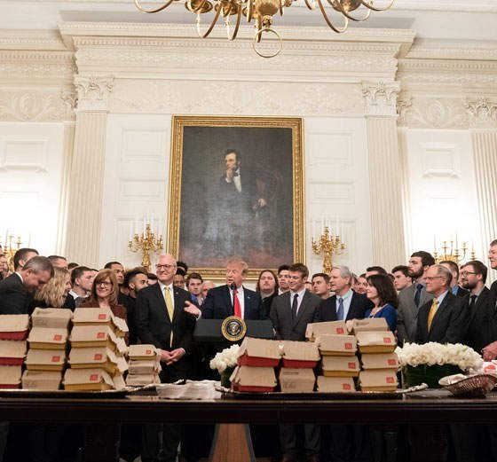 Donald Trump Served Fast Food To College Champions…. Again.