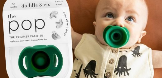 You can now buy a dummy which pops closed whenever it's dropped – saving mums the gross chore of sucking it clean