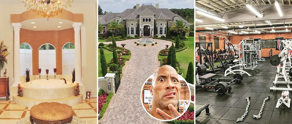 Inside WWE and Hollywood legend The Rock's plush £3.75m mansion including 'Iron Paradise' gym, luxury pool and 14-seat home cinema