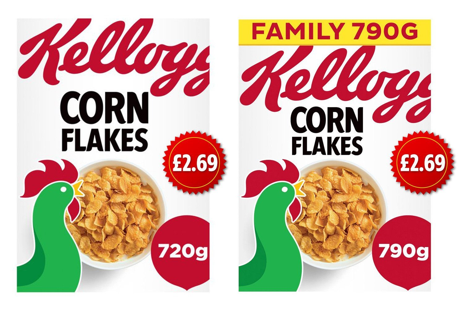 Kellogg's cuts size of cereal boxes but the price stays the same