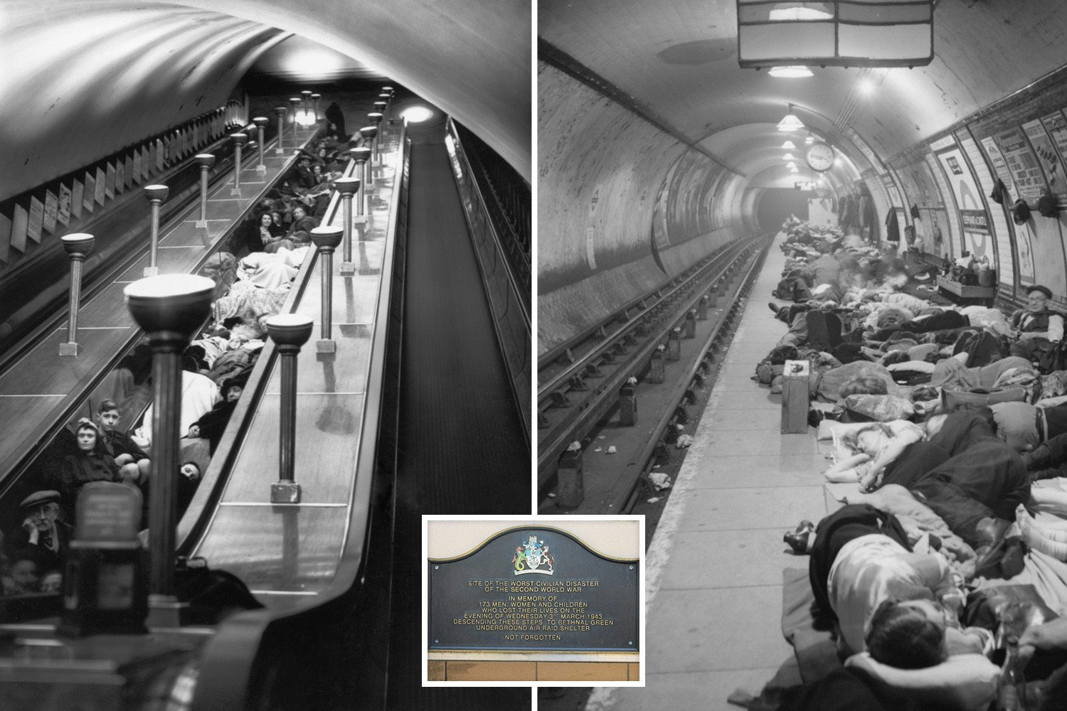 The secret story of Britain's biggest tube disaster which killed 173 people in 15 seconds in mass stampede but was covered up by the government