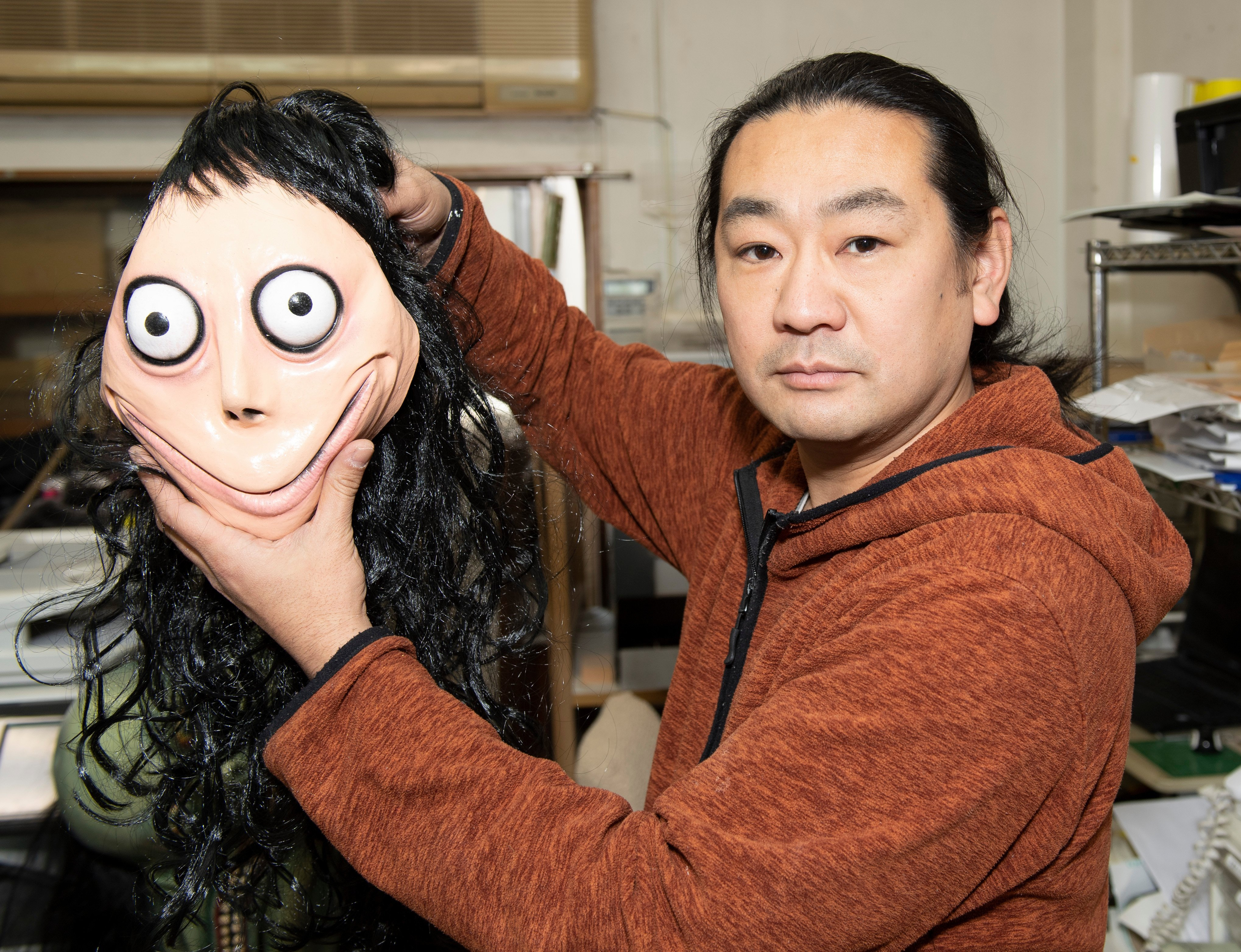 Momo 'suicide' puppet maker says kids shouldn't fear horrifying beast because it's been destroyed insisting 'the curse is gone'