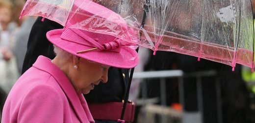 Queen Elizabeth Goes to Great Lengths to Match Her Umbrellas to Her Colorful Outfits