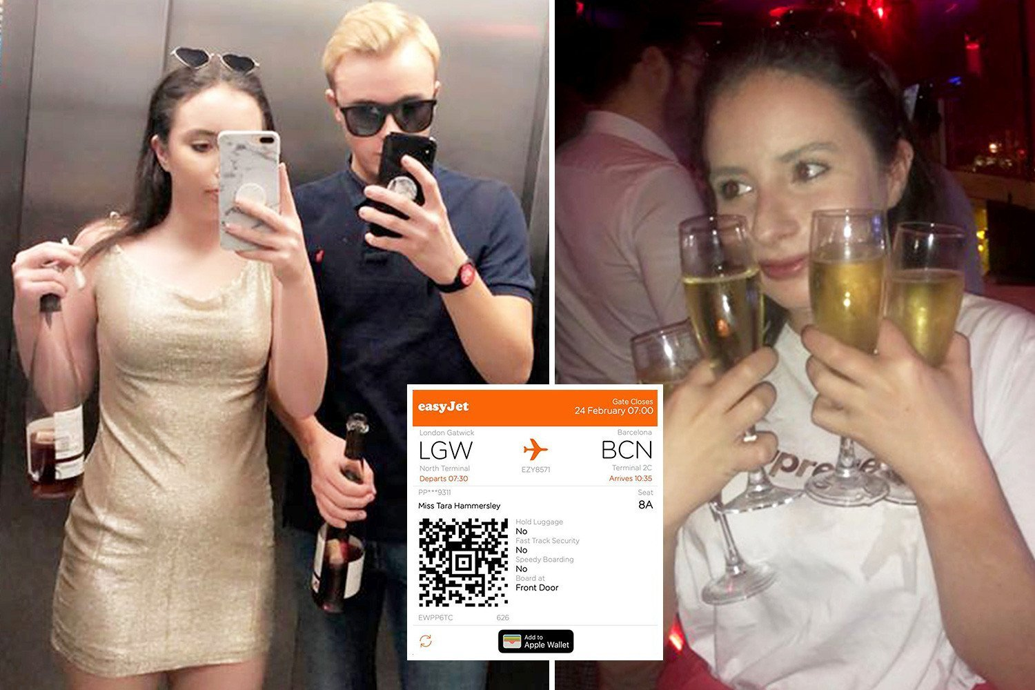 Teen revellers claim they ended up in Barcelona after Sussex night out got out of hand