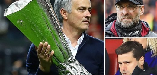 Mourinho takes thinly veiled dig at Klopp and Pochettino as ex-Man Utd boss boasts about trophy haul beating 'philosophy'