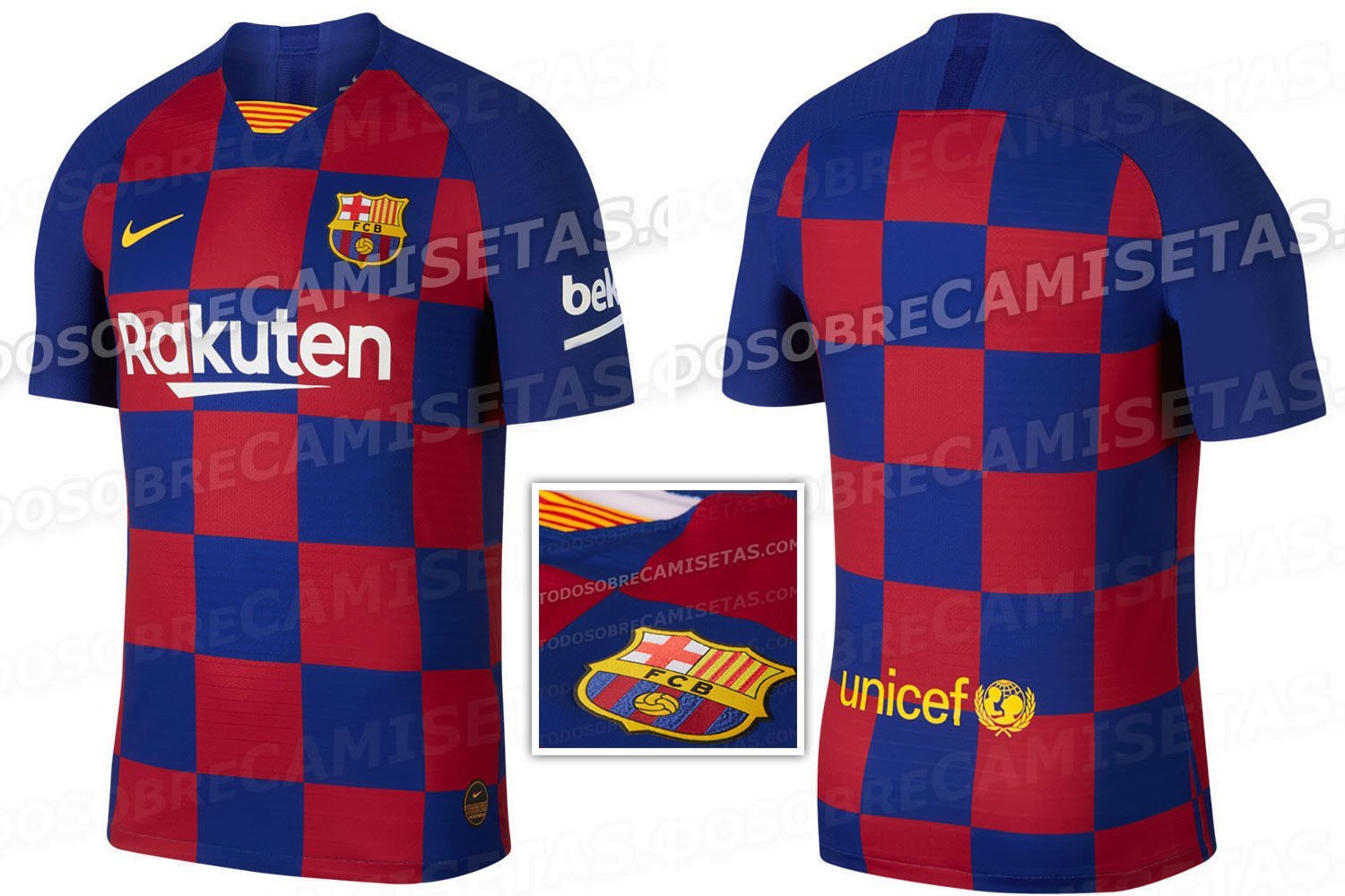 f27cfd5f6 Barcelona 2019-20 home kit leaked – and they ve ditched the famous stripes