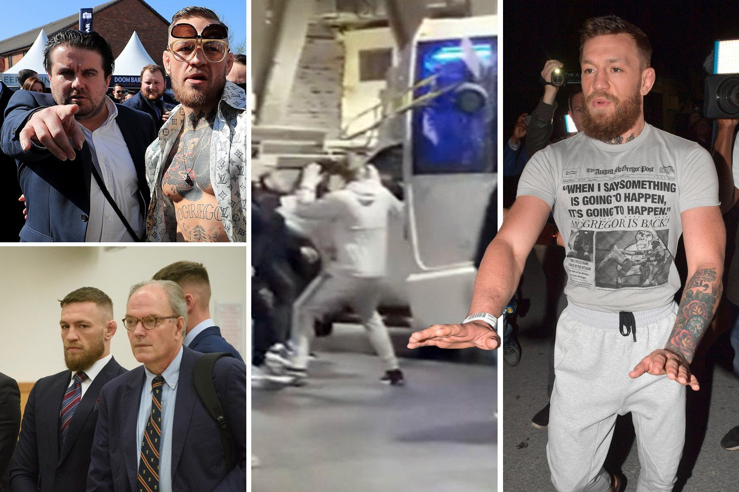Conor McGregor's arrest is latest brush with the law, his bad-boy history includes bus attack and post-fight brawl