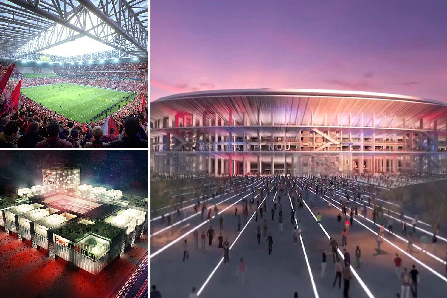 The 12 most stunning future stadiums as football prepares for San Siro to be replaced