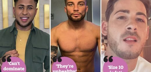The men who refuse to date women over size 8 because they see them as 'lazy', 'not good for my image' and 'sex hungry'